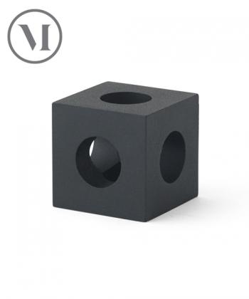 Cube Candle Holder czarny skandynawski świecznik designerski | Menu
