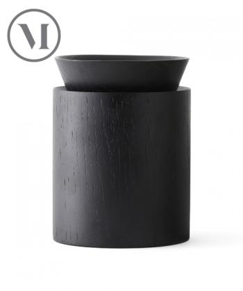 Wooden Bowl wysoki czarny skandynawski pojemnik do przechowywania | Menu