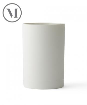 Cylindrical Vase S White skandynawski wazon | Menu