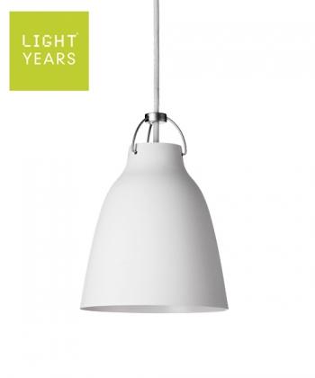 Caravaggio Matt P1 biała skandynawska designerska lampa wisząca | Lightyears | design Cecilie Manz