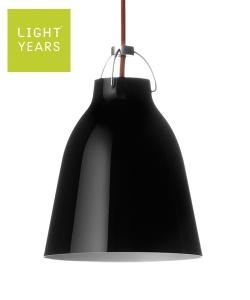 Caravaggio P1 czarna - czerwona skandynawska designerska lampa wisząca | Lightyears | design Cecilie Manz
