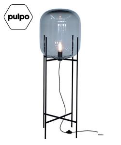 Oda Big smoky grey / czarny szklana designerska lampa podłogowa | Pulpo | design Sebastian Herkner