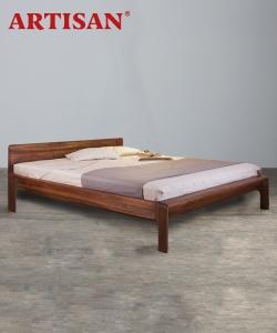 Invito designerskie łóżko drewniane | Artisan | Design Spichlerz