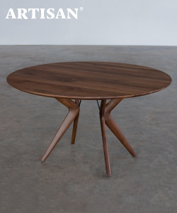 Lakri designerski drewniany stół okrągły | Artisan | Design Spichlerz