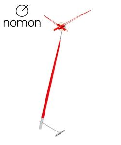 Nomon Pisa L czarny designerski zegar stojący | Design Spichlerz