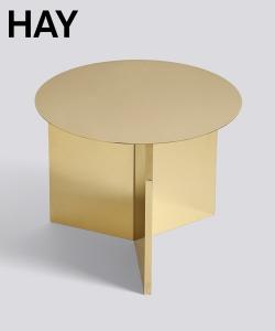 Slit Table Round petrol grey skandynawski stolik kawowy | Hay | Design Spichlerz