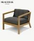 Virkelyst skandynawski fotel ogorodowy Charcoal (grafitowy) | Skagerak | Design Spichlerz