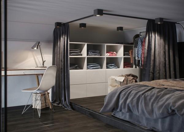Ciemny designerski apartament