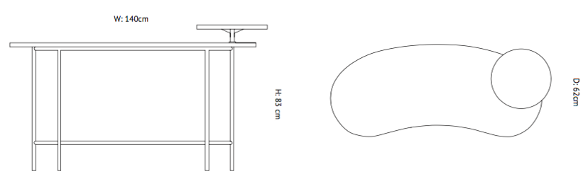 &tradition Palette Desk JH9 biurko wymiary design Jaime Hayon
