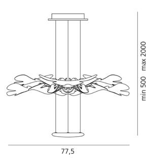 Artemide Chlorophilia wymiary lampa wisząca Ross Lovegrove