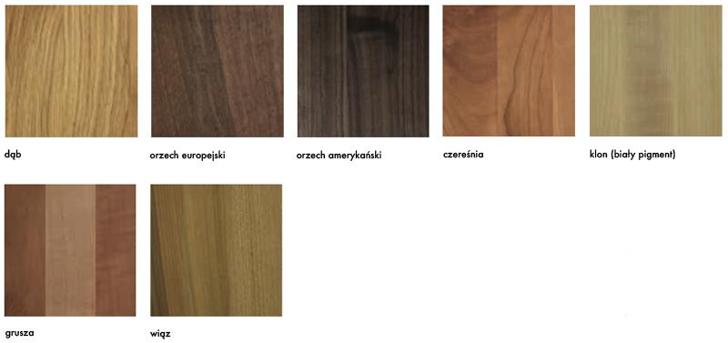 Rodzaje drewna Artisan