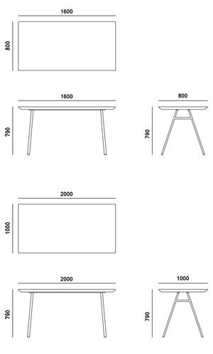 Stół Borcas Klippe wymiary