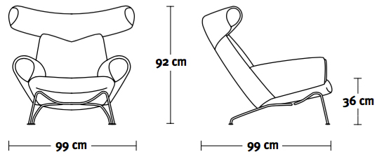 Erik Jørgensen Ox Chair wymiary design Hans J. Wegner