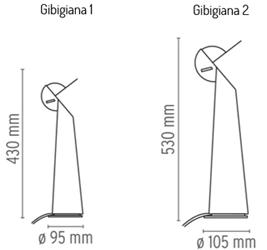 Flos Gibigiana wymiary