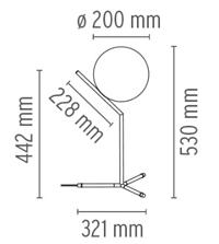 IC T1 High Flos wymiary