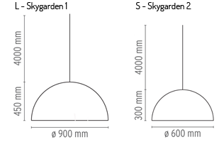 Flos Skygarden wymiary