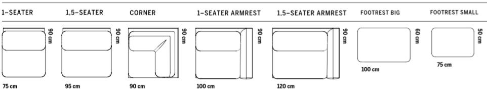 Sofa Fogia Campo moduły i wymairy