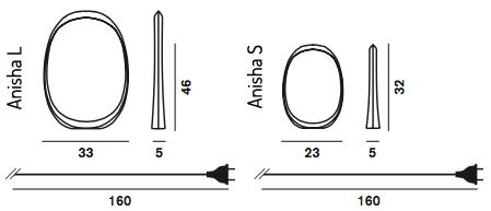 Anisha Foscarini wymiary