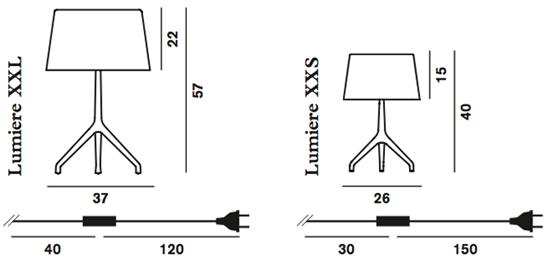 Foscarini XXS / XXL wymiary