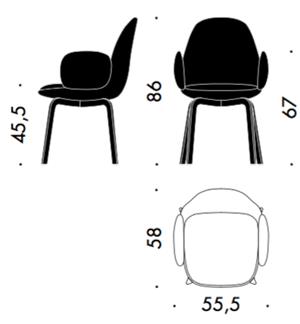 Krzesło Sammen Fritz Hansen wymiary - design Jaime Hayon