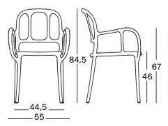 Magis krzesło Mila wymiary