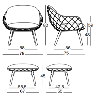 Magis fotel Piña wymiary, design Jaime Hayon