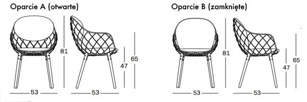 Krzesło Magis Piña (Pina) wymiary - design Jaime Hayon