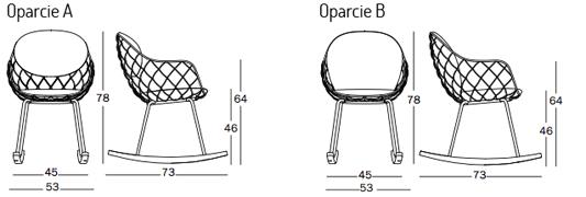 Magis Piña krzesło bujane wymiary