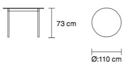 Stół Base Table Round Muutp wymiary