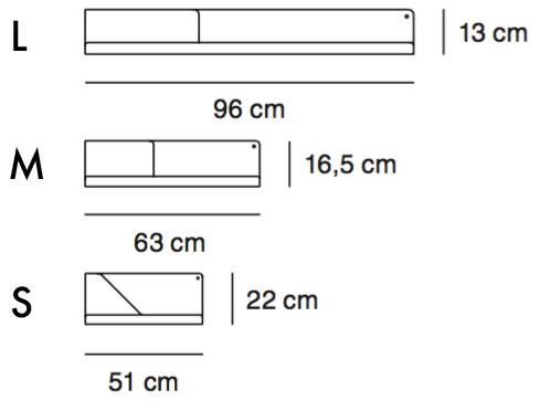 Regał Muuto Folded Shelf wymiary