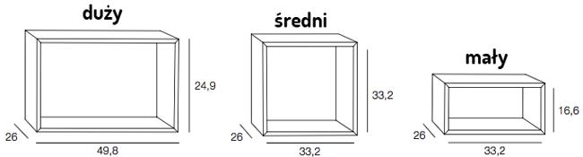 Muuto Mini Stacked wymiary modułów
