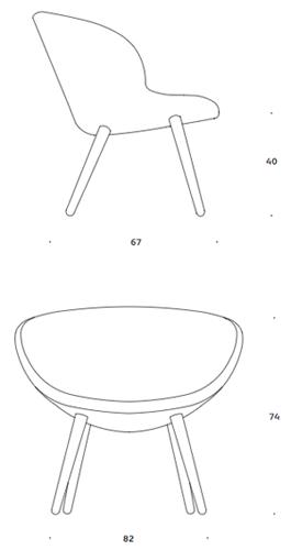 +Halle Capri Lounge fotel wymiary, design busk+hertzog