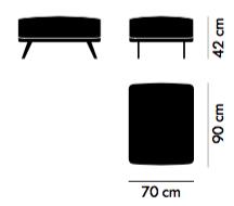 Stua Costura fotel wymiary