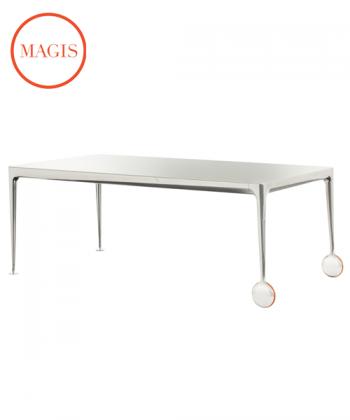 Stół Big Will biały / polerowany | Magis | design Philippe Starck | Design Spichlerz