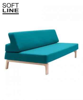 Sofa rozkładana z funkcją spania Lazy, Softline. Design Andreas Lund Design.