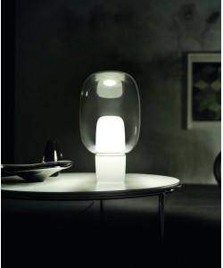 designerska włoska lampa stołowa Yoko zielona Foscarini