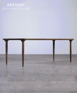 Pasha designerski stół z litego drewna Artisan | Design Spichlerz