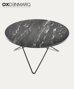 Big O stół z blatem z marmuru | OX Denmarq | Design Spichlerz