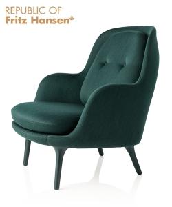 Fri fotel ciemno zielony (Balder 982) | Fritz Hansen | design Jaime Hayon