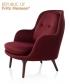 Fri fotel bordowy (Balder 682) | Fritz Hansen | design Jaime Hayon