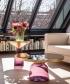 Bell Side Table Black szklany stolik kawowy niebieski | ClassiCon