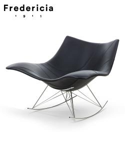 Skórzany fotel bujany Stingray Skóra | Fredericia