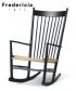 J16 skandynawski fotel bujany ikona designu | Hans J. Wegner | Fredericia
