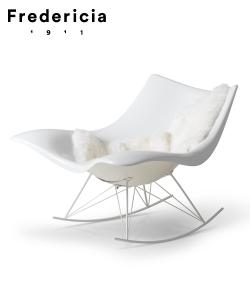 Skandynawski fotel bujany Stingray | Fredericia