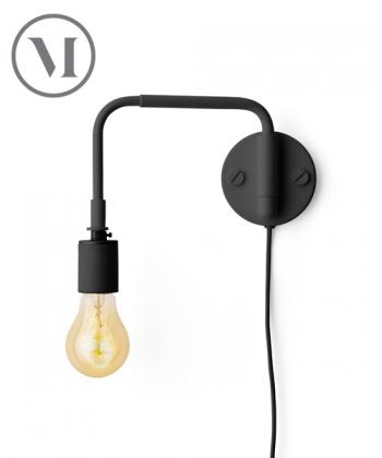 Staple Lamp czarna skandynawski kinkiet w stylu industrialnym   Menu