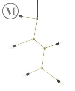 Harrison czarna skandynawska lampa wisząca w stylu industrialnym | Menu