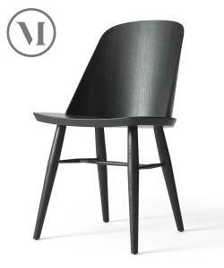 Synnes Chair czarne skandynawskie krzesło drewniane | Menu