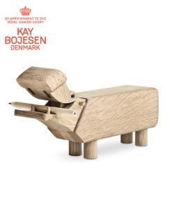Hippo dębowa skandynawska figurka drewniana | Kay Bojesen