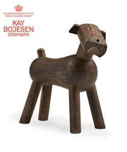 Dog Tim dąb wędzony skandynawska figura drewniana | Kay Bojesen
