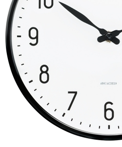 Station Wall Clock designerski zegar skandynawski | Arne Jacobsen